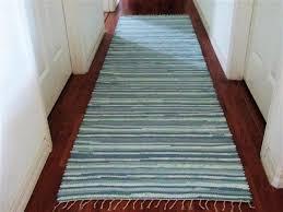 aqua runner a swedish style hand woven rag rug