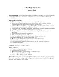 Medical Receptionist Job Description Best Photos Of Medical Office Assistant Job Description Office 13