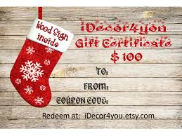 Gift Certificate Sign Idecor4you Holiday Gift Certificate Printable For Custom Wood Sign