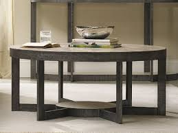 furniture mill valley gray 44 wide round cocktail table 5283 80111