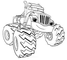 Blaze And The Monster Machine Coloring Pages Crusher Of Machines