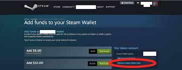 balance steam gift card redeem