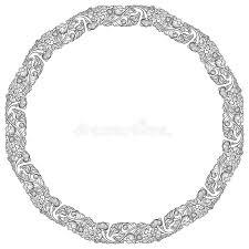 Lotus Flowers Arranged In Intricate Circular Frame Popular