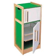 children s wooden play kitchen refrigerator by pintoy 05562