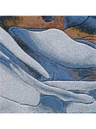 koko blue wool rug by omar khan rugs handtufted hand carved 100 new zealand wool