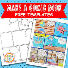 Free Templates For Kids Comic Book Comic Strip Template The Printables Library