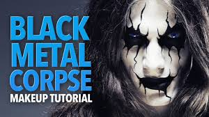 the black metal corpse makeup tutorial