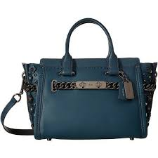 coach 59091 swagger 27 in glovetanned leather with willow fl detail for