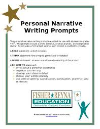 6th grade essay topics personal narrative writing prompts writing prompt for 4th