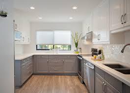 gray two tone kitchen cabinets fad