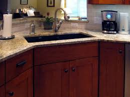 Granite Kitchen Sinks Kitchens Sink Black Granite Counter Top With Stainless Steel