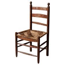 antique rush seat chair on chairish