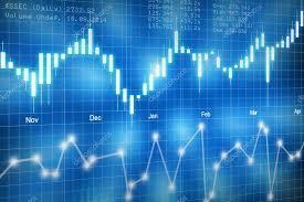 Bac Candlestick Chart Stock Market Candlestick Chart On Blue Background Stock