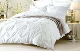 save for pillow top pinch pleat design white bedding set includes comforter and duvet oversized cover