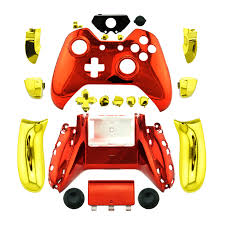 new arrival custom chrome red replacement shell gold buttons mod