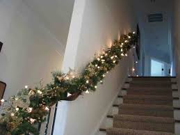 Christmas Garland With Lights For Stairs