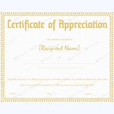 Certificates Of Appreciation Free Certificate Appreciation