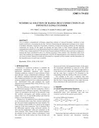 numerical solution of radial heat conduction in an infinitely long cylinder pdf available