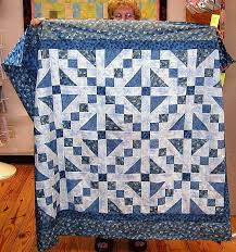 Jacobs Ladder Quilt Pattern - available by instant download & Jacobs Ladder, Mary's Blue Jacobs Ladder Quilt Adamdwight.com