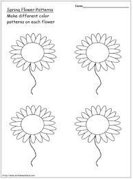 Spring Flower Template Spring Flower Patterns Worksheets