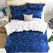 com esydream home beddingblue color 4pc duvet cover setsspace style kids bedding setscotton u0026 microfiber no full