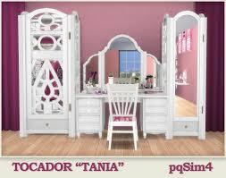 "Tocador ""Tania"". Sims 4 Custom Content.   Sims 4, Sims 4 custom content,  Sims"