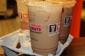 iced coffee 295 mg dunkin donuts