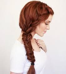 french fishtail side braid
