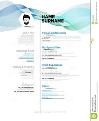 Minimalist Resume Minimalist CV stock illustration Illustration of experience 66