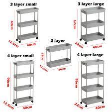 Online Shop 2/3/4 Layer Gap Kitchen Storage Rack Slim Slide ...