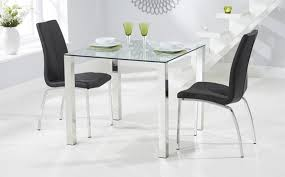square glass dining tables sets