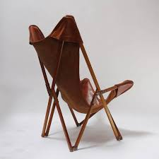 italian foldable leather armchair in the style of joseph beverly fenby for