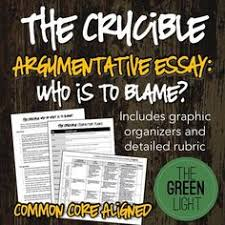 the crucible themes textual analysis activity activities  the crucible argumentative essay assignment who or what i