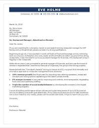 Restaurant Manager Cover Letter Example Everything Of Letter Sample