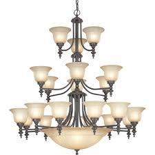 richland twenty four light three tier chandelier