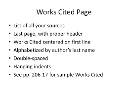 Ppt Works Cited Page Powerpoint Presentation Id5762732