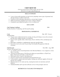 Chef Resume Sample Astounding Sousf Resume Sample Junior Cv Example Executive Samples 9