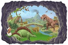 Dinosaur Wall Mural Decal Peel & Stick for Boys Room Walls