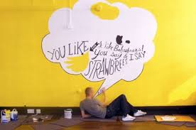 painting office walls. Fine Painting 10 Twitter Wall Painting Ideas Inspiration Typography Speach Bubble Office  Joel Holland SBbaffitos 560x371 Photo Throughout Painting Office Walls L