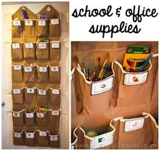 office supply storage ideas. Organizing School And Office Supplies In An Over The Door Shoe Hanger Supply Storage Ideas