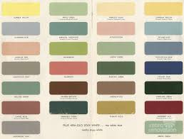 Kitchen Paint Colour Chart 1954 Paint Colors For Kitchens Bathrooms And Moldings