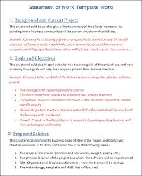 Sow Template Free Word Template Project Management Templates