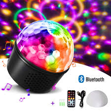 Strobe Light Speaker Homeasy Disco Lights Bluetooth Speaker Party Lights Disco Ball Strobe Light Rgb Sound Activated With Remote Control Dj Lights Stage Light For Kids