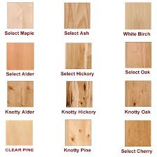 note other woods used but not pictured are knotty maple knotty cherry and paint grade
