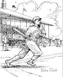 Small Picture babe ruth coloring pages babe ruth Coolagenet