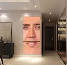 Decorate your home with fabulous wall art from next. Order This The Giant Blown Up Face Of Nicolas Cage Printed Full Hd Personalized Customized Canvas Art Wall Art Wall Decor Now