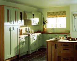 Dark Green Kitchen Cabinets Green Wall Theme And Dark Red Wooden Kitchen Cabinet Added By