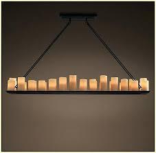 round pillar candle chandelier
