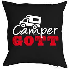 Lustiger Kissenbezug Camper Gott Geschenk Idee Camping Wohnwagen