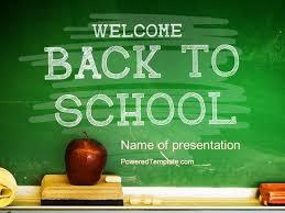 Chalkboard Powerpoint Background School Chalkboard Powerpoint Template By Poweredtemplate Com